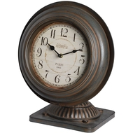 Antique speaker style mantel clock