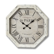 Antiquite de Paris octagonal cream wall clock