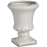 Ceramic Urn Planter - white
