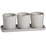 Set  Of  Two  Rustic  White  Plant  Pots