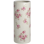 Ceramic pink floral umbrella stand