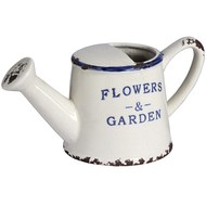 Ceramic Flowers and Garden watering can