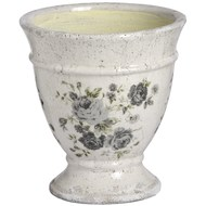 Ceramic floral urn shaped planter