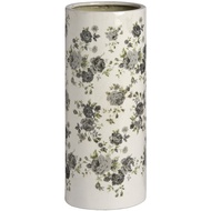 Ceramic Flowers and Gardens cream umbrella stand