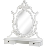 Baroque  Dressing  Table  Mirror  With  Two  Drawers