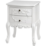 Baroque  Two  Drawer  Bedside  Table
