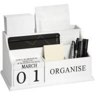 White Organise Desktop Organiser