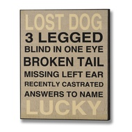 Lost Dog Plaque