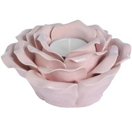 Pink ornamental ceramic rose