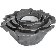Grey Ornamental Ceramic Rose
