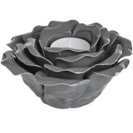 Black ornamental ceramic rose