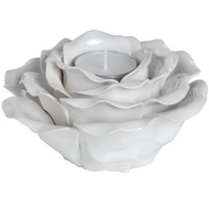 White Ornamental Ceramic Rose
