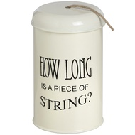 """How long is a piece of string"" Jute String Tin"