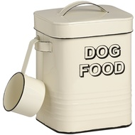 Dog Food Tin with Shovel