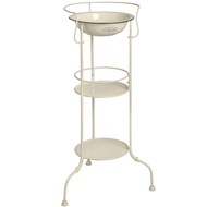 Cream 2 shelf stand with basin