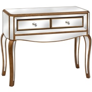 Venetian Mirrored 2 Drawer Hall Table