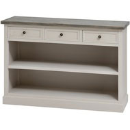 The Studley Collection 3 Drawer Low Bookcase