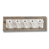 The Studley Collection 5 Heart Wall Hooks