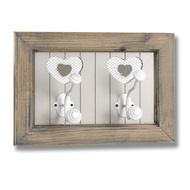 The Studley Collection 2 Heart Wall Hook