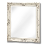 Antique White French Vintage Style Mirror