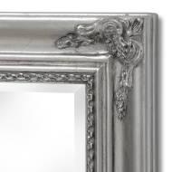 Baroque Slimline Antique Silver Full Length Mirror - Thumb 2