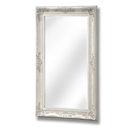 Large Baroque antique white mirror