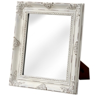 Baroque Antique White Table Mirror
