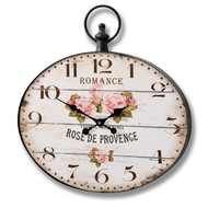 Rose De Provence Oval Clock