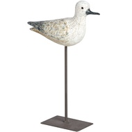 Wooden Effect Bird on Stand - Small