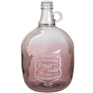Cranberry coloured decorative bottle with ring handle