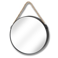 Circular mirror with hang rope