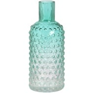 Green glass bottle shaped Vase