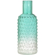 Large Green Glass bottle shaped vase