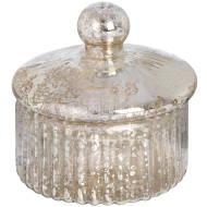 Small Round Gold Glass Decorative Box