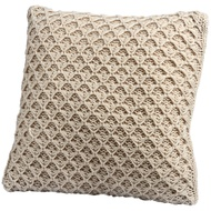 Dimple knit cream cushion