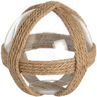 Small decorative glass ball with rope detail