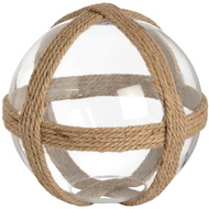 Large decorative glass ball with rope detail