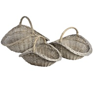 Set of 3 Wicker flower baskets