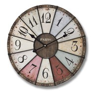 Multi Coloured Paris Clock - Small
