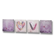 Four Piece Love Canvas