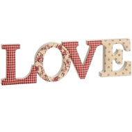 Fabric Love Letters Ornament