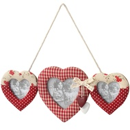 Hanging 3 Way Heart Photo Frame