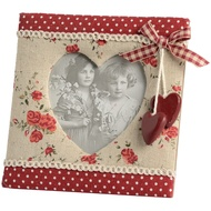 Photo Frame With Heart Design Hanging Red Hearts