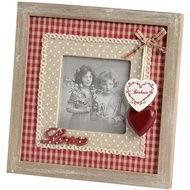 Photo Frame With Love Wording  And Hanging Hearts