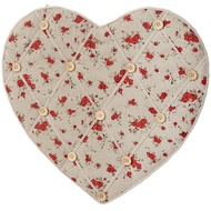 Heart Shaped Floral Pinboard