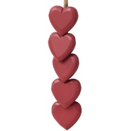 Small Red Hanging Hearts On String