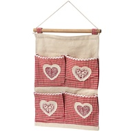 Hanging Organiser With Heart Detailing