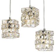 Gold Cube Pendant Lamp