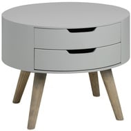 Contour Collection Two Drawer Side Table