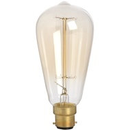 Edison Filament Teardrop Squirrel Cage Bulb - Bayonet
